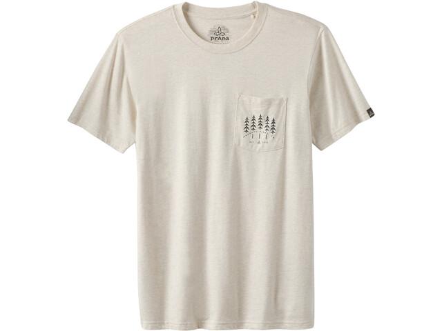 Prana Hollis Pocket Camiseta Manga Corta Hombre, weathered beige heather